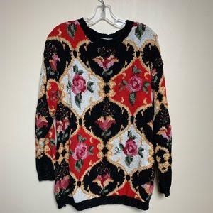Vintage Crystal Kobe chunky knit sweater